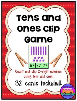 TENS AND ONES Clip Cards