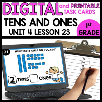 Tens and Ones | DIGITAL TASK CARDS | PRINTABLE TASK CARDS