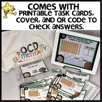 Tens and Ones | DIGITAL TASK CARDS | PRINTABLE TASK CARDS