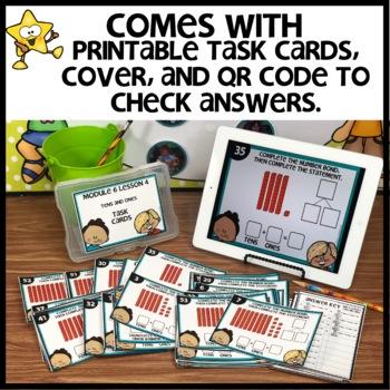Tens and Ones   DIGITAL TASK CARDS   PRINTABLE TASK CARDS