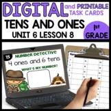 Tens and Ones DIGITS | DIGITAL TASK CARDS | PRINTABLE TASK CARDS
