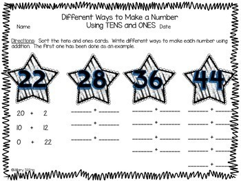Place Value:  Tens and Ones - Tens as Ones