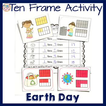 Tens and Ones Earth Day theme Math Center