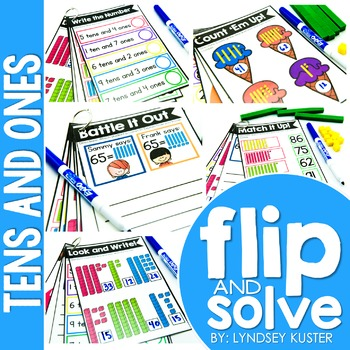 Tens and Ones - Flip and Solve Books