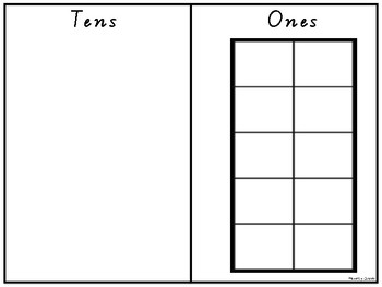 Tens and Ones Frame Graphic Organiser