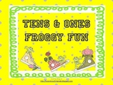 Tens and Ones Froggy Fun Matching Center Math Game (Common