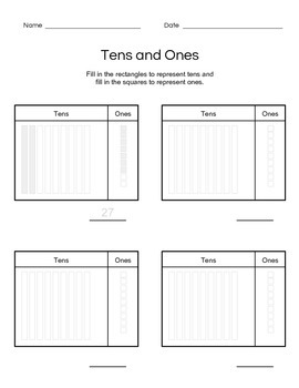 Tens and Ones Guided Practice with Example