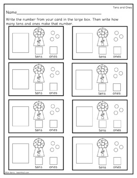Tens and Ones Gumball Machines