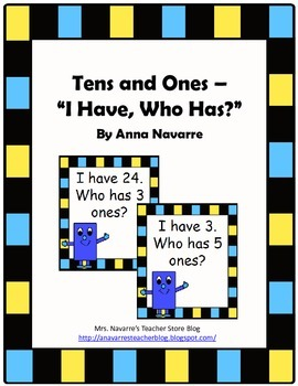 Tens and Ones - I Have, Who Has