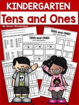 Place Value Kindergarten Tens and Ones Worksheets
