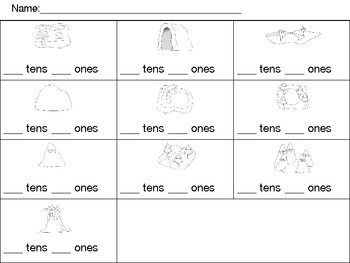 Tens and Ones Landform Math Center