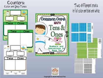 Tens and Ones Mat Counters n Worksheet Common Core MAFS Envision