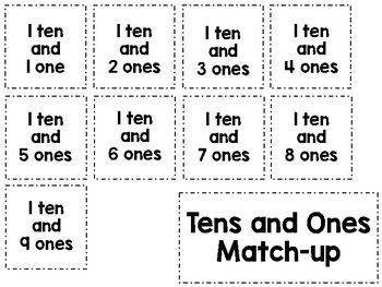 Tens and Ones Match-up
