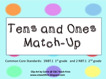Tens and Ones Match-up  Common Core
