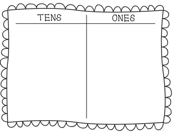 Tens and Ones Math Mat