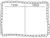 Tens and Ones Math Mat