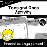 Tens and Ones Activity-2 Digit Place Value (First Grade-1.NBT.2)