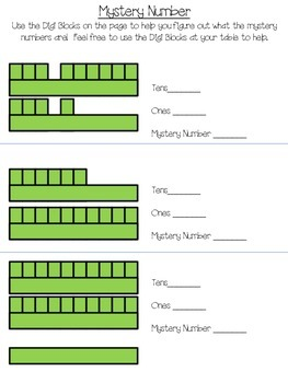 Tens and Ones Mystery Number Game