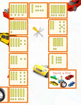 Tens and Ones Number Building Game, Auto Shop Theme