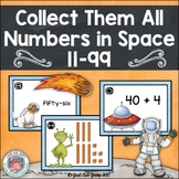 Tens and Ones Numbers in Space Task Card Activity