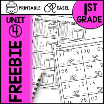 Tens and Ones PRINT AND GO FREEBIE