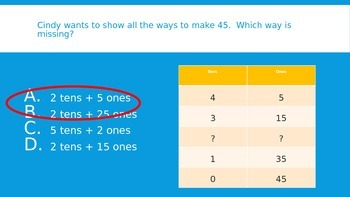 Tens and Ones Place Value 1st Grade Review Game