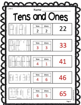 Tens and Ones Place Value (4 Versions)