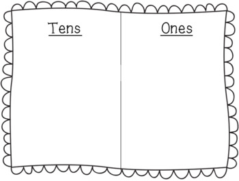 Tens and Ones Place Value Mat with Manipulatives