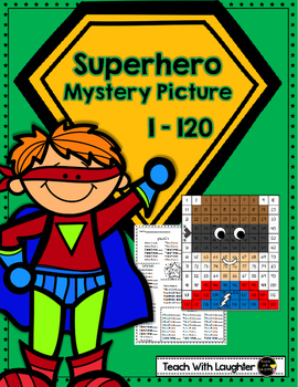 Tens and Ones Place Value Mystery Picture (1-120) Superhero
