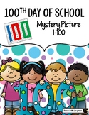 100th Day of School Tens and Ones Place Value Mystery Picture