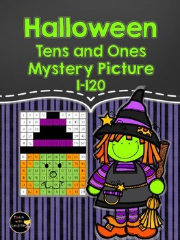 Tens and Ones Place Value Mystery Picture (Halloween) 1-120