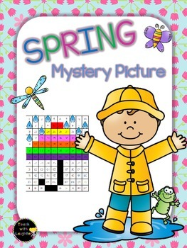 Tens and Ones Place Value Mystery Picture (Spring) 1-120