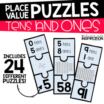 Tens and Ones Place Value Puzzles by Education and Inspiration