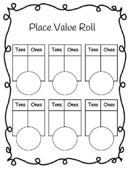 Tens and Ones Place Value Roll