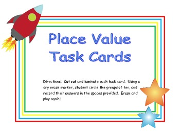 Tens and Ones Place Value Task Cards