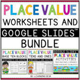 Tens and Ones Place Value Base Ten Blocks Worksheets Printable Google Slides
