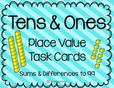 Addition and Subtraction to 99 using Base Ten Blocks {Task Cards}