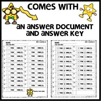 Tens and Ones Practice DIGITAL/PRINTABLE TASK CARDS