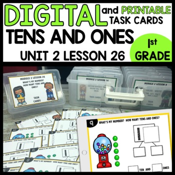 Tens and Ones Practice DIGITAL TASK CARDS | PRINTABLE TASK CARDS