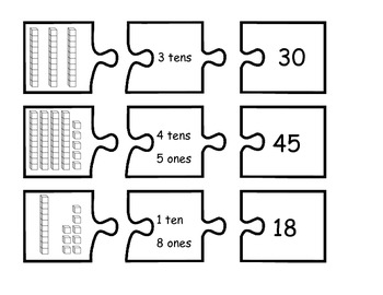 Tens and Ones Puzzles