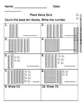 Tens and Ones Quiz