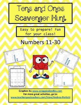 Tens and Ones Scavenger Hunt