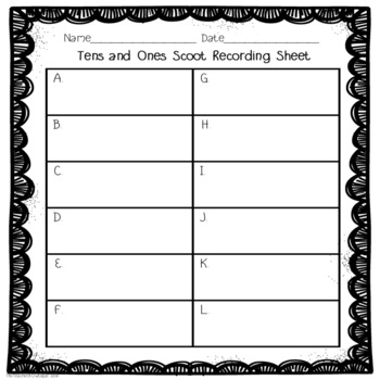 Tens and Ones Scoot: A Place Value Activity