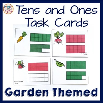 Tens and Ones Scoot with a garden theme