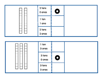 Tens and Ones Self-Checking Clip Cards