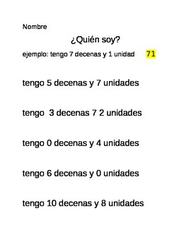 Tens and Ones (Spanish)