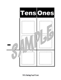 Tens and Ones Subtraction Chart
