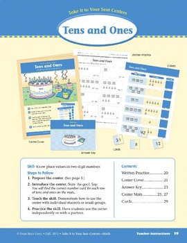 Tens and Ones (Take It to Your Seat Centers Common Core Math)