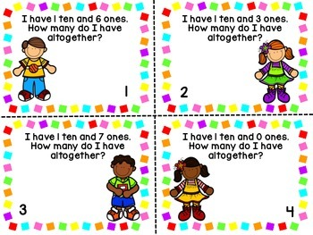 Tens and Ones Task Cards and Activities (Base 10)