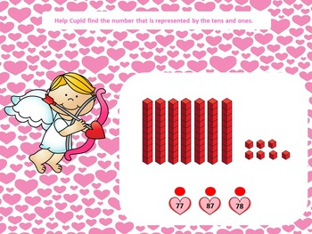 Tens and Ones With Cupid - free SAMPLE